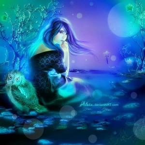 Blauw meisje